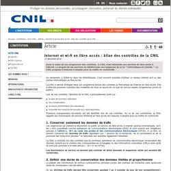 Wi-fi en libre accès et CNIL