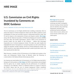 U.S. Commission on Civil Rights Inundated by Comments on EEOC Guidance – Hire Image