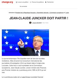 @EU_Commission Juncker doit partir
