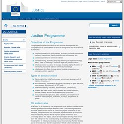 Justice Programme - European Commission - DG Justiceunknown label