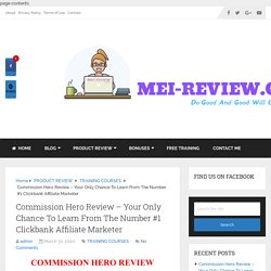 Commission Hero Review + Massive Bonuses + Demo + OTOs + Price