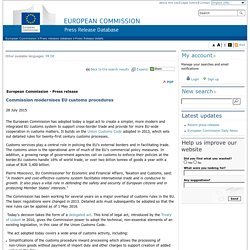 Commission modernises EU customs procedures