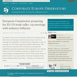 European Commission preparing for EU-US trade talks: 119 meetings with industry lobbyists