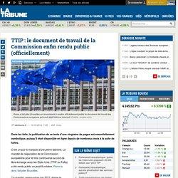 TTIP: le document de travail de la Commission enfin rendu public (officiellement)