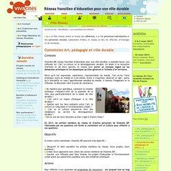 Commission Art, pédagogie et ville durable