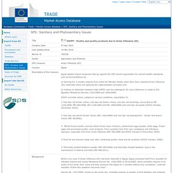 EUROPE 19/03/14 SPS: Sanitary and Phytosanitary Issues - EGYPT - Poultry and poultry products due to Avian Influenza (AI)