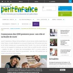 Commission des 1000 premiers jours : son rôle et sa feuille de route