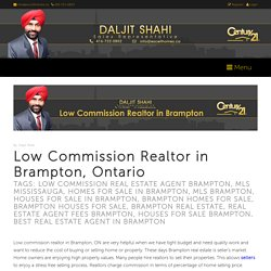 Low Commission Realtor in Brampton, Ontario