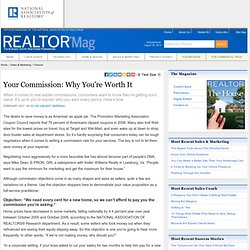 Your Commission: Why You're Worth It