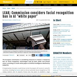 LEAK: Commission considers facial recognition ban in AI 'white paper'