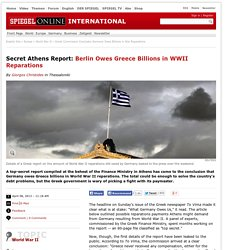 Greek Commission Concludes Germany Owes Billions in War Reparations