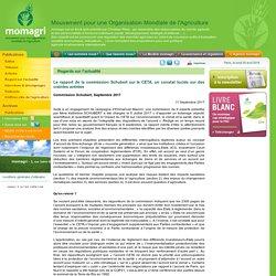 GOUVERNEMENT_FR 11/09/17 Le rapport de la commission Schubert sur le CETA, un constat lucide sur des craintes avérées