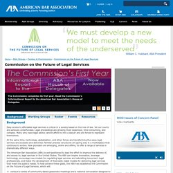 Commission on the Future of Legal Services