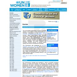 Commission on the Status of Women-Follow-up to Beijing and Beijing + 5