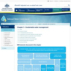 National Water Commission - Chapter 3 - Sustainable water management