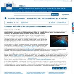 Commission européenne : CORDIS : Results Packs : Repousser les frontières des technologies quantiques en Europe