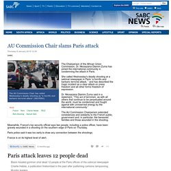AU Commission Chair slams Paris attack:Thursday 8 January 2015