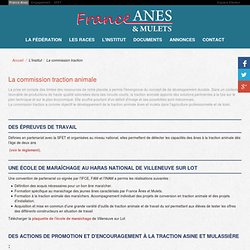 La commission traction animale - France Anes