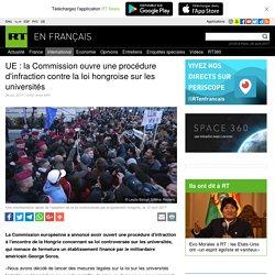 UE : la Commission ouvre une procédure d'infraction contre la loi hongroise sur les universités