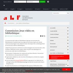Commission Jeux vidéo en bibliothèque