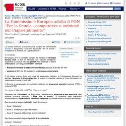 """La Commissione Europea adotta il PON """"Per la Scuola - competenze e ambienti per l'apprendimento"""""""