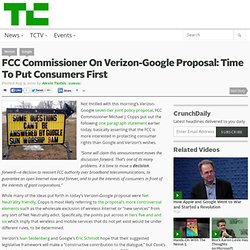 FCC Commissioner's reaction