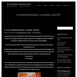 Commissioning a mural artist