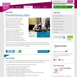 Commissioning editor job information