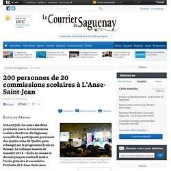 200 personnes de 20 commissions scolaires à L'Anse-Saint-Jean