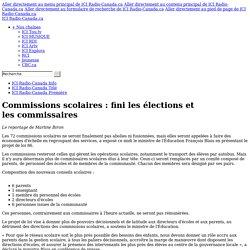 Commissions scolaires : fini les élections et les commissaires