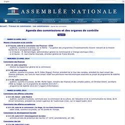 Réunions des commissions/délégations/offices