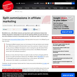 Split commissions in affiliate marketing