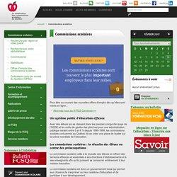 Commissions scolaires - Fédération des commissions scolaires du Québec (FCSQ)