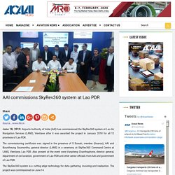 AAI commissions SkyRev360 system at Lao PDR