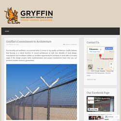 Gryffin's Commitment to Architecture