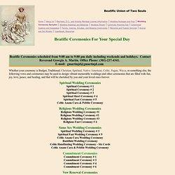 Religious, Spiritual, Commitment Ceremonies and vows