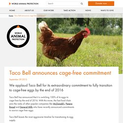Taco Bell announces cage-free commitment