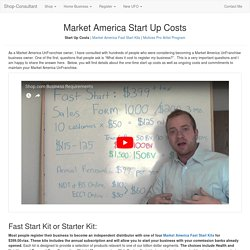 Costs and Commitments for a Market America Business
