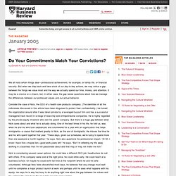 Do Your Commitments Match Your Convictions?