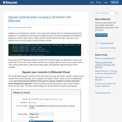 Squash commits when merging a Git branch with Bitbucket