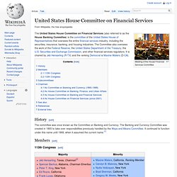 United States House Committee on Financial Services - Wiki