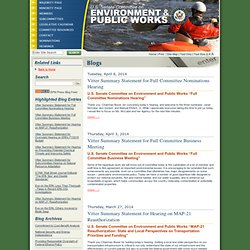 .: U.S. Senate Committee on Environment and Public Works :: Minority Page :.