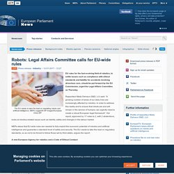 Robots: Legal Affairs Committee calls for EU-wide rules