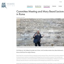 Committee Meeting and Mary Beard Lecture in Rome
