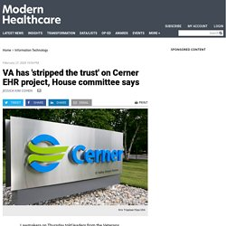 House committee to add oversight controls to VA's EHR project