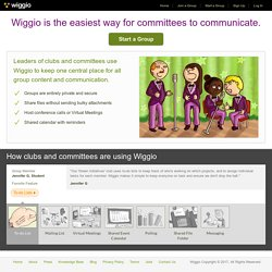 Clubs and Committees group collaboration - Wiggio