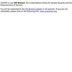 National Committees for UNIFEM - Partnerships - UNIFEM