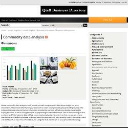Commodity data analysis
