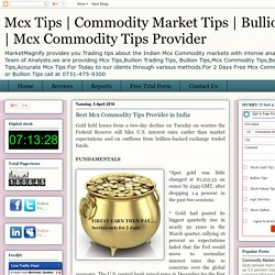 Best Mcx Commodity Tips Provider in India
