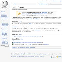 Commodity cell
